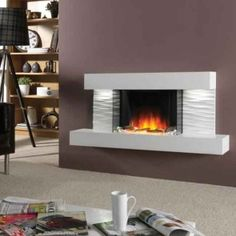 Flamerite Ador Wall Mounted Electric Fire Suite