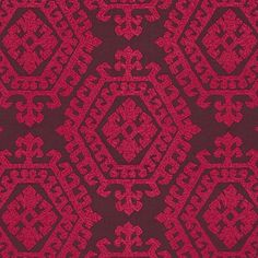 Omar Embroidery | 71943 in Berry | Schumacher Fabrics