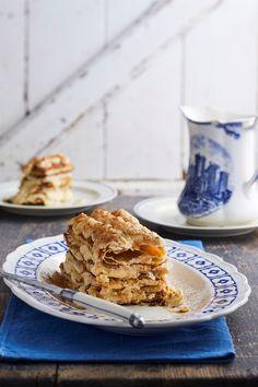 Franse vlaskywe met kaneel Melktert, Apple Pie, Tarts, Desserts, Recipes, Food, Mince Pies, Tailgate Desserts, Pies