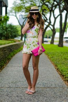 @roressclothes closet ideas #women fashion outfit #clothing style apparel Flowing Print Romper