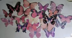 18 Garden Pink Edible Butterflies Romantic Cake Toppers by sugarbutterflies on Etsy