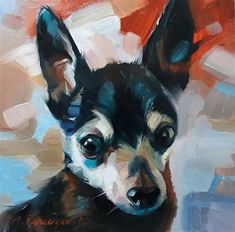 "Daily Paintworks - ""Bob"" - Original Fine Art for Sale - © Natali Derevyanko"