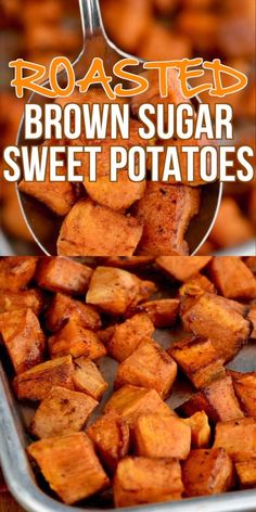 Sugar Roasted Sweet Potatoes The perfect and delicious easy side dish!The perfect and delicious easy side dish! Veggie Side Dishes, Side Dishes Easy, Vegetable Dishes, Side Dish Recipes, Food Dishes, Burger Side Dishes, Dinner Side Dishes, Potato Side Dishes, Dishes Recipes