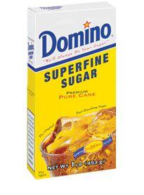 Superfine Sugar    Domino® Superfine Sugar is an instantly-dissolving sugar that is perfect for beverages, mousses, and puddings. It helps make drinks extra smooth and desserts deliciously delicate.  Superfine Sugar    Available Sizes:  1-lb. box