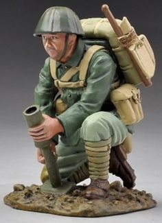 World War II Pacific RS010 Japanese Marine Infantry Mortarman- Made by Thomas Gunn Military Miniatures and Models. Factory made, hand assembled, painted and boxed in a padded decorative box. Excellent gift for the enthusiast.
