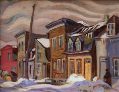 Alexander Young Jackson, 'Quebec Village' at Mayberry Fine Art x Emily Carr, Canadian Painters, Canadian Artists, Group Of Seven Paintings, Tom Thomson Paintings, Painting Prints, City Painting, Winter Painting, National Art