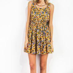 Sexy yellow elastic dress