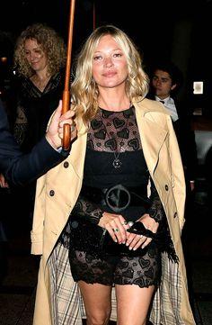 Kate Moss était toute sage avant d'arriver au cocktail Miu Miu.