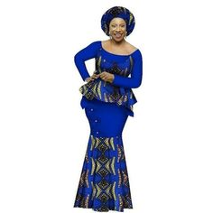 African Style Top and Long Skirt Women Cotton Print Kitenge Ankara O-Neck at Diyanu African Dashiki, Evening Dresses Plus Size, Long Skirts For Women, Kitenge, Mermaid Prom Dresses, African Style, Ankara, Skirt Set, Formal Dresses