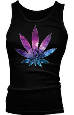 Cool! Galaxy Marijuana Leaf Ladies Junior Fit Tank Top --- http://www.amazon.com/gp/product/B00J29ZI7A/ref=as_li_ss_tl?ie=UTF8&camp=1789&creative=390957&creativeASIN=B00J29ZI7A&linkCode=as2&tag=420life-20