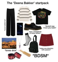 """Starterpack 4"" by kingoliversykes on Polyvore featuring mode, Alexander McQueen, Dr. Martens, Brunello Cucinelli, Huawei, Topshop, Vetements en Monki"