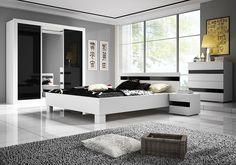 Lucca hálószoba Modern fekete-fehér összeállítás