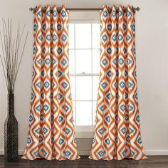 """30 Likes, 2 Comments - Lush Décor (@lushdecorhome) on Instagram: """"NEW ITEM: Our Diamond Ikat Room Darkening Window Curtain Set is bold and stylish, and it is…"""""""