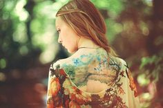 Late Summer Day Watercolor Tattoo - 65  Examples of Watercolor Tattoo  <3 <3