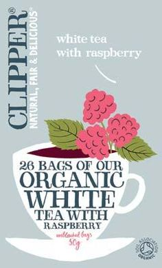 Clipper White Tea with rasperry
