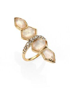 Alexis Bittar - Light Citrine & Mother-of-Pearl Doublet Ring