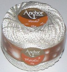 Anchor Artiste Metallic Crochet No.5 Thread WHITE 304