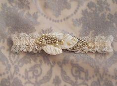 Rhinestone Bridal Garter  Lace Wedding Garter  by gadegaarddesign, $39.00