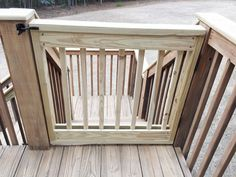 Deck Gate Instructions-- for putting the dog out when we have a fenced in back yard someday...