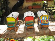 Provence Crèches: Les roulottes de gitans make your own Gypsywagon with pattern in French