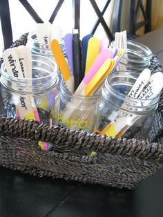 Color coded chore sticks to keep family chores organized. Much better than a chore wheel!)Stay Organized: 5 Things to Color Code in Your House