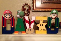 Mario themed letters