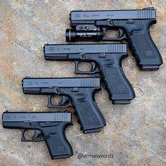 "1,417 Likes, 8 Comments - ⠀⠀⠀⠀⠀⠀⠀⠀           Aɽɱɑʂ Wσɽɗʂ (@armaswords) on Instagram: ""⠀⠀⠀⠀⠀⠀⠀⠀⠀⠀ ⠀⠀⠀⠀⠀⠀⠀⠀⠀⠀⠀⠀ Manufacturer: Glock Mod. G21 - Caliber: 45 ACP  Mod. G17 - Caliber: 9 mm…"""