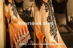 Stunning Rust Black & White Embroidery Dress
