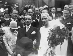"Princess Natalia Pavlovna Paley and her husband Lucien Lelong.  ""AL"""