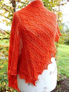Orange Peel shawl PDF knitting pattern by AgnesKutas on Etsy, $6.00