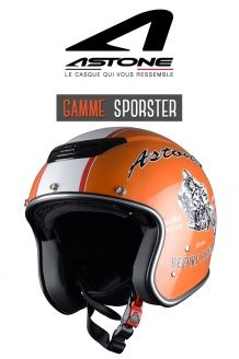 Casque Jet Sportster exclusive record orange Astone Helmets