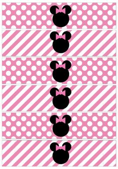 Minnie Mouse Zebra o Cebra. Minnie Mouse 1st Birthday, Minnie Mouse Theme, Pink Minnie, Baby Mouse, Mickey Mouse Clubhouse, Mickey E Minie, Minne, Party Decoration, Mouse Parties
