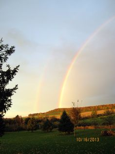 Double Rainbow In The Backyard Of Our Home, Otisco, NY