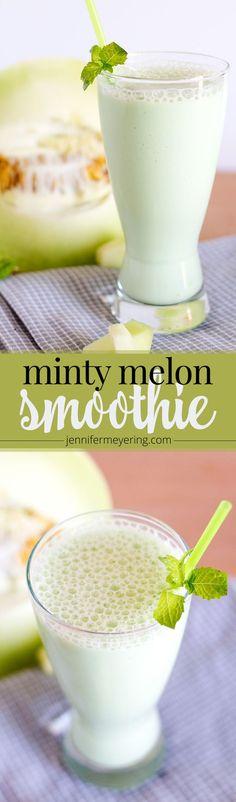 Minty Melon Smoothie - JenniferMeyering.com