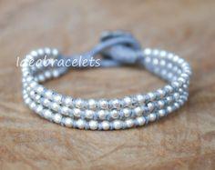Silver Wrap Elephant Bracelet Mom & Daughter by IdeaBracelets
