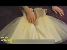 Как пошить Детское пышное Платье! Как сделать выкройку Платья! Выкройка и пошив лифа платья Часть 1 - YouTube