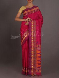 Pratha Cherry Pink Splendor With #WorkBorder #ChikankariSilkSaree
