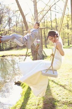swing portraits!   Happy Everything Co. #wedding