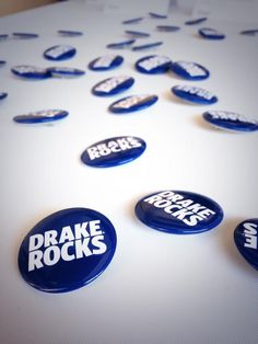 """Did you get your limited edition """"Drake Rocks"""" button at this year's 80/35?"""