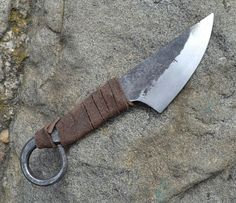 Hand Forged Small Celtic Knife by WulflundJewelry on Etsy, Kč450.00