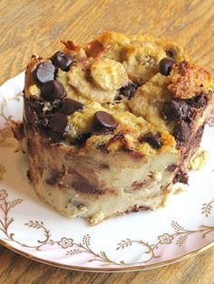 Chocolate banana bread pudding: another food where I am constantly trying to recreate one I tried years ago; no others have yet measured up...