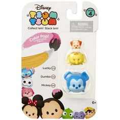 Disney Tsum Tsum Series 4 Color Pop! Lucky, Dumbo & Mickey Minifigure 3-Pack - Walmart.com