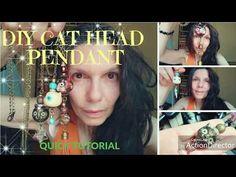 Fantastic cat head pendant that glows in the dark! Tutorial