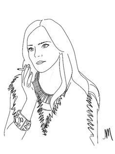 emma watson the bling ring movie illustration