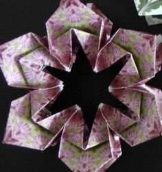Paper Flower Ornament  Video: https://www.youtube.com/watch?v=WgK3h9IVodk