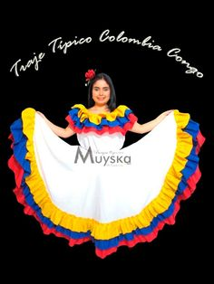 Resultado de imagen para imagenes de vestido de cumbia Cheer Skirts, Dance Skirts, Traditional Outfits, Snow White, Disney Princess, Disney Characters, Beautiful, Clothes, Collection
