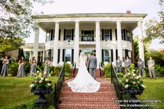 Southern Weddings at Victoria Belle Mansion and Vintage White Barn