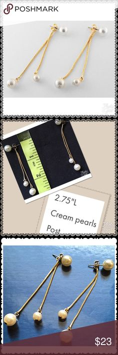 DANG!E DROP PEARL EARRINGS READY SET FASHION, Every Girl needs her Pearls, so let's,modern them Up. Jewelry Earrings