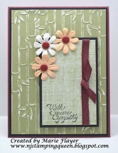 darice embossed cards | ... card with retired Close to My Heart products and Darice Bamboo