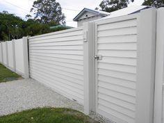 Sliding driveway and pedestrian gates in powder coated aluminium